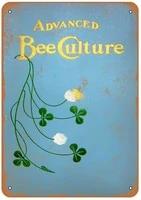 diuangfoong 1905 advanced bee keeping culture vintage look metal sign 128