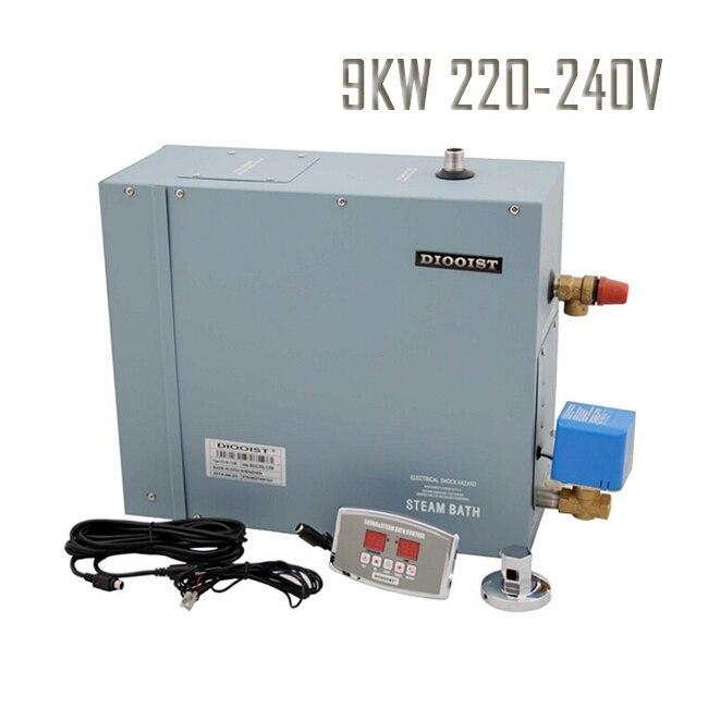 Générateur de vapeur 9KW   Livraison gratuite, salle de Sauna à la vapeur, 220 à 240V, Machine de bain à vapeur en 1Phase avec contrôleur