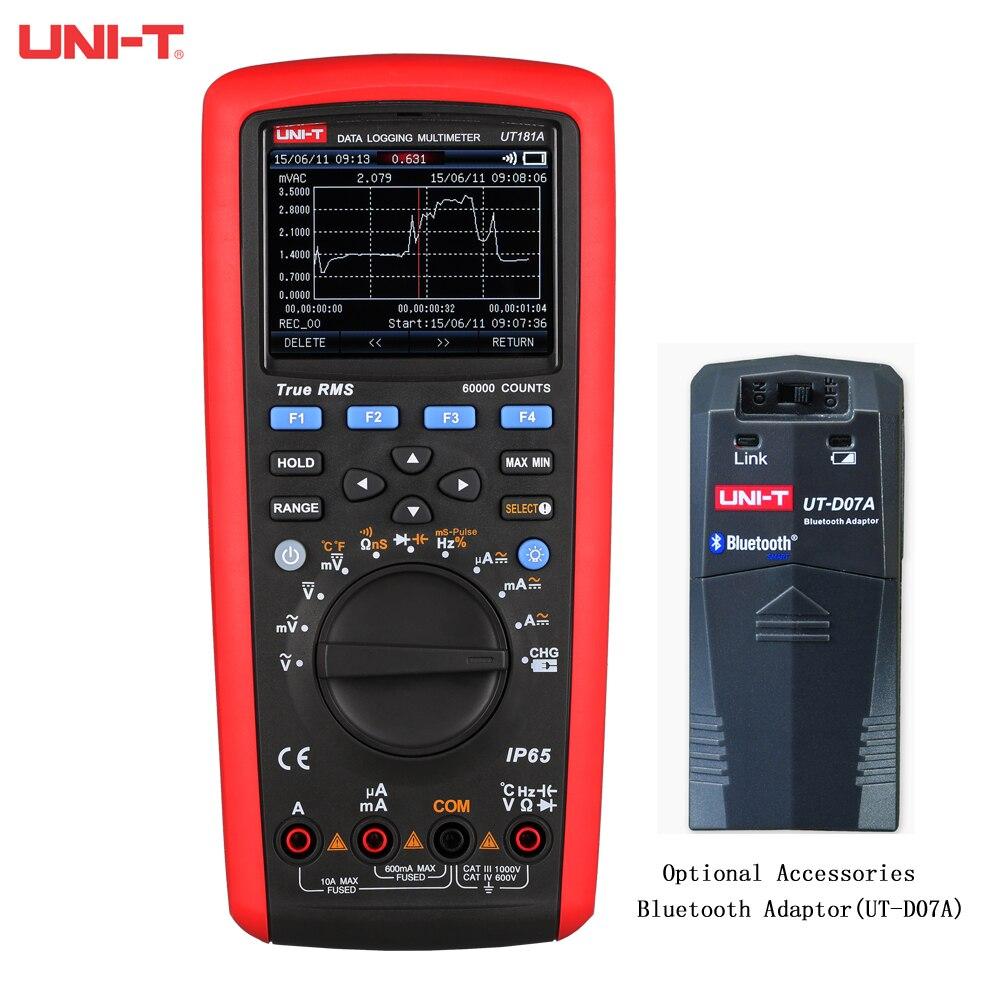 UNI-T UT181A صحيح RMS الرقمية بيانات تسجيل المتر مع الاتجاه التقاط وظيفة 59999 عدد IP65 ، للماء