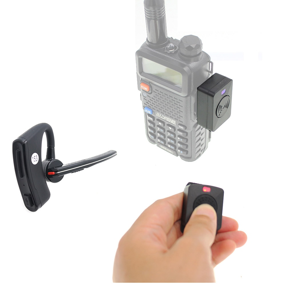 Walkie talkie Handsfree Bluetooth PTT earpiece wireless headphone headset for BaoFeng UV-82 UV-5R 88