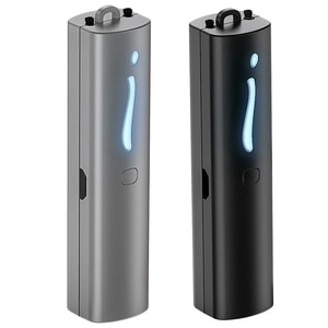 2Pcs Gray/Rose Red Mini Carry-On Smart Air Purifier Necklace Negative Ion Oxygen Bar Mute Deodorant Air Freshener