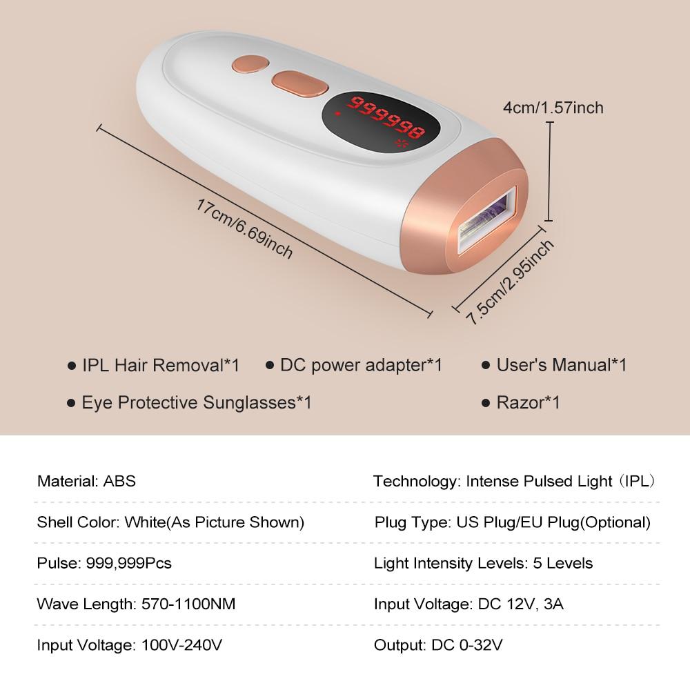 IPL Laser Epilator Laser Hair Removal Machine Photoepilator Electric Epilator IPL Hair Removal Laser Facial Epilator For Women enlarge