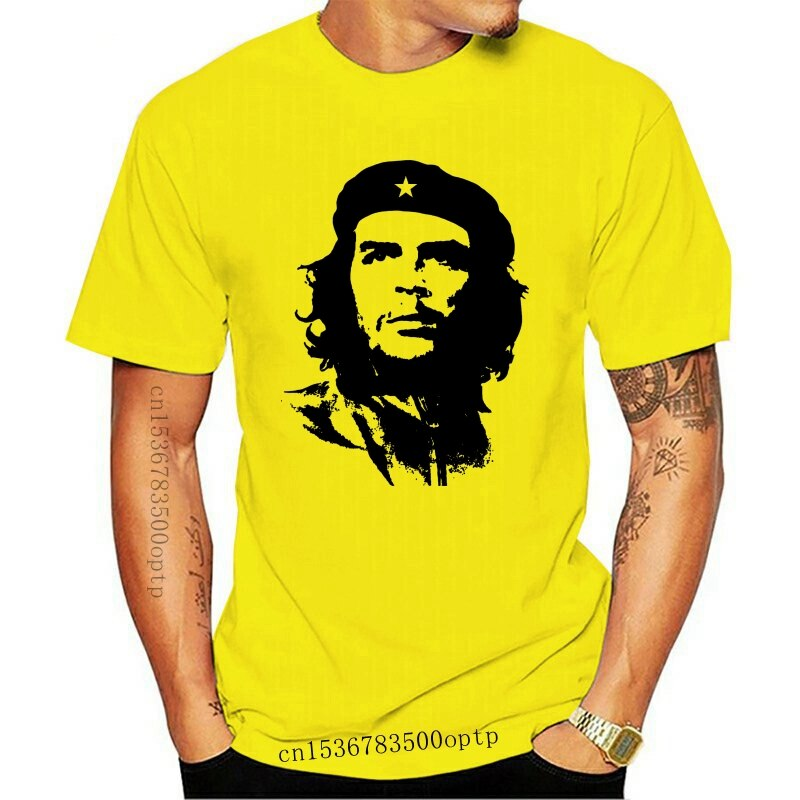Che Guevara Gezicht Silhouet-Mens Iconische T-shirt Revolutie Cuba Komisch Shirts Mens