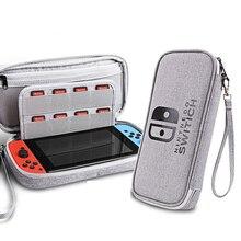 Para Nintendo cambiar bolsas de almacenamiento de viaje estuche impermeable colocar la consola y 20 Uds tarjeta de juego portátil llevar accesorios de juego
