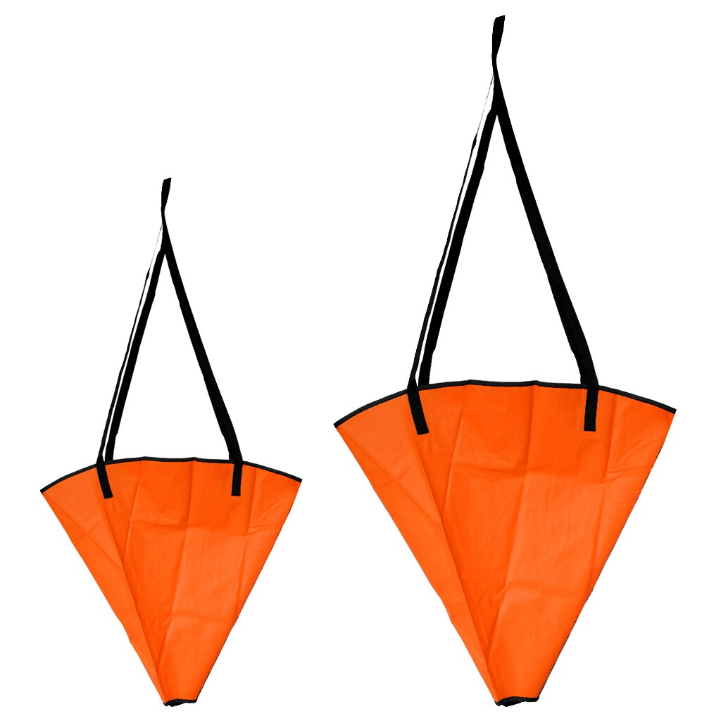 2 piezas de PVC de 18 + 24 para pesca, ancla marina, calcetín de freno a la deriva para 12-14 pies/14-16 pies, barco de potencia, bote de vela, Kayak, yate