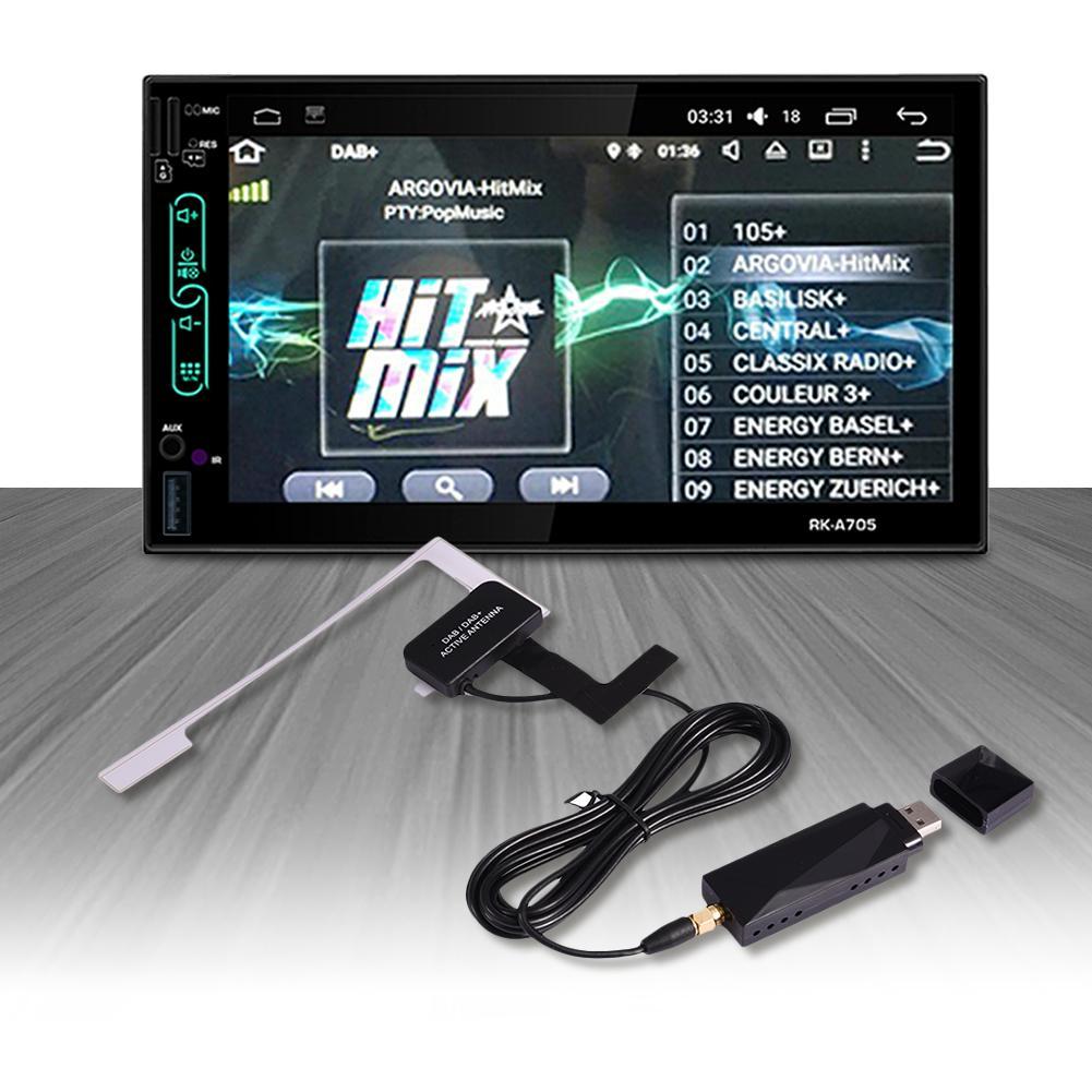 تمديد هوائي العالمي DAB USB المحمولة محول جهاز استقبال الإشارات ل أندرويد 4.4 5.1 6.0 7.1 سيارة لاعب لأوروبا أستراليا