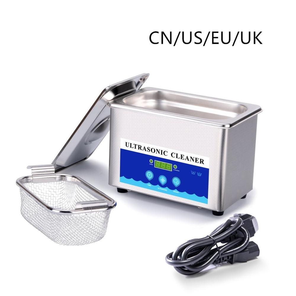 2020 mini máquina de limpeza ultrassônica 42000hz alta frequência vibração lavagem líquido limpeza jóias óculos com cesta em estoque