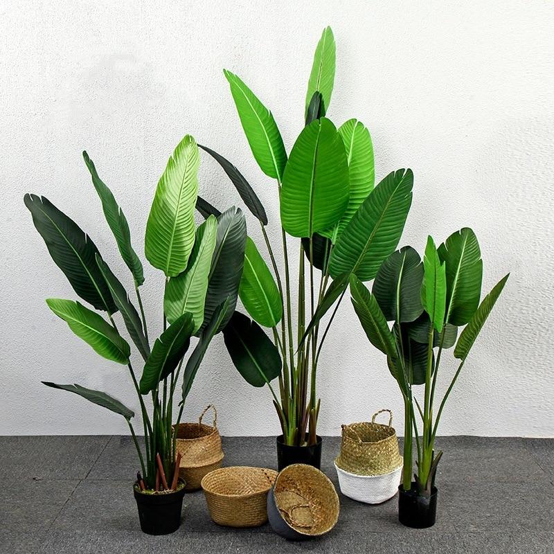 Large Simulation Plant Tree Bonsai Artificial Plant Traveler Banana Turtle Leaf Fake Tree Potted Plants Nordic Home Decoration