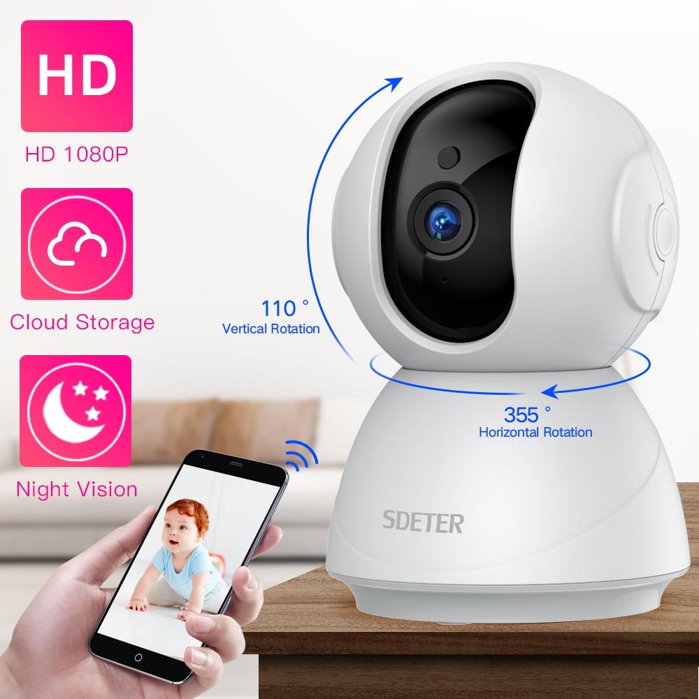 SDETER-كاميرا مراقبة IP WiFi hd 1080P/720P ، جهاز أمان لاسلكي ، مراقبة الحيوانات الأليفة ، مع رؤية ليلية بالأشعة تحت الحمراء وبروتوكول P2P