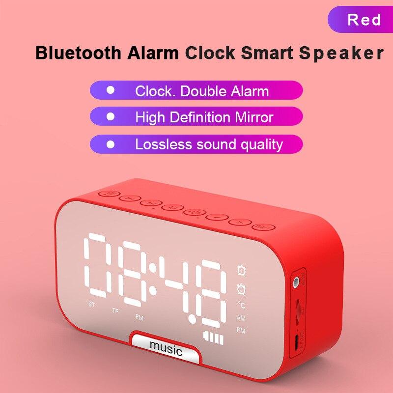 5.0 سمّاعات بلوتوث نسخة مصغّر منزل ساعة تنبيه خارجيّ محمول بطاقة صوت راديو LED شاشة ديجيتال درجة حرارة عرض