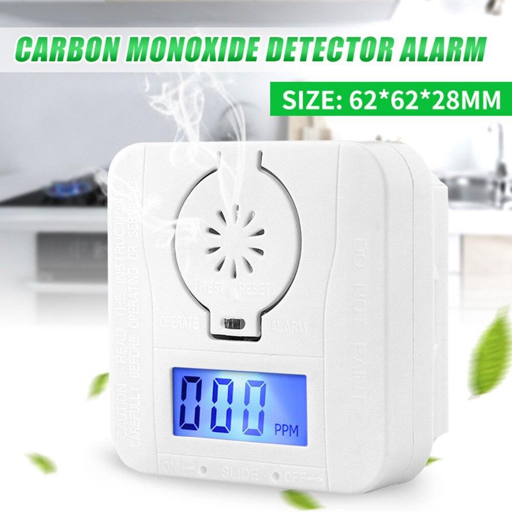 CO датчик углекислый ЖК-детектор угарного газа цифровой предупреждающий дымовой сигнал батарея питания CO детектор сигнализация охранная сигнализация