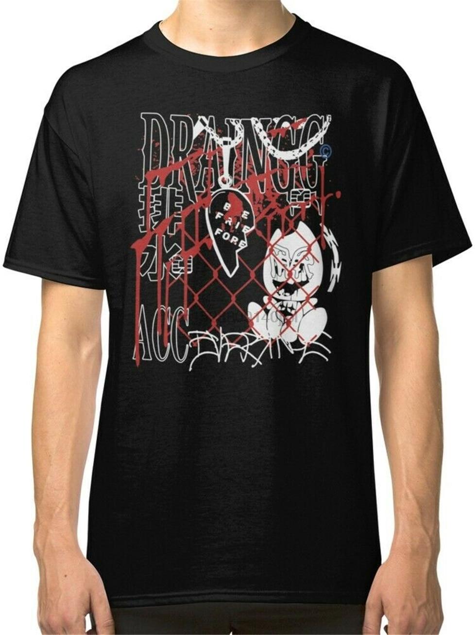 Drenaje de la banda Merch negra para hombre Camiseta S a 3Xl ropa Casual camiseta