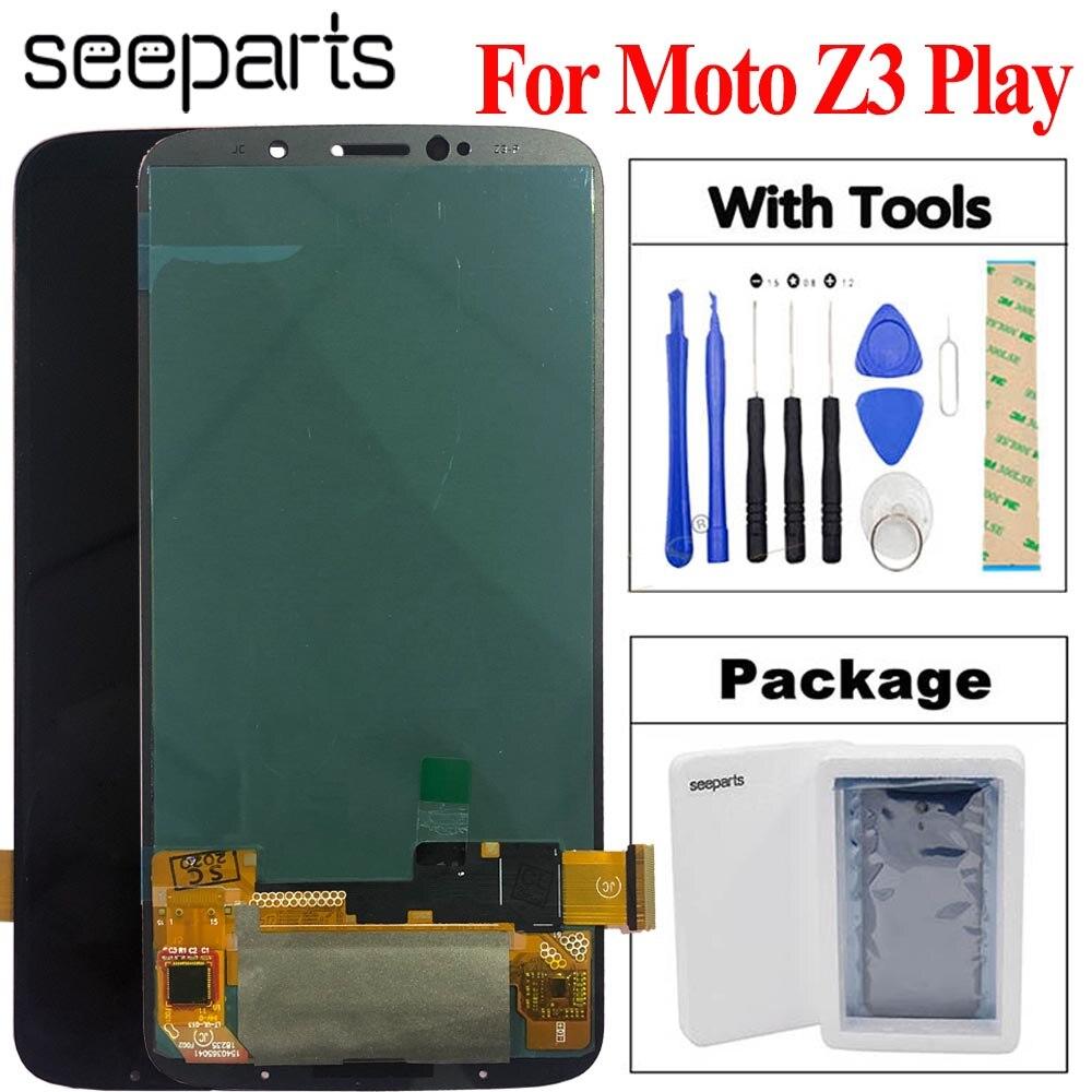 "6.01 ""Motorola Moto Z3 oyna LCD ekran dokunmatik ekran Digitizer meclisi değiştirme Moto Z3 oyun XT1929 XT-1929 LCD"