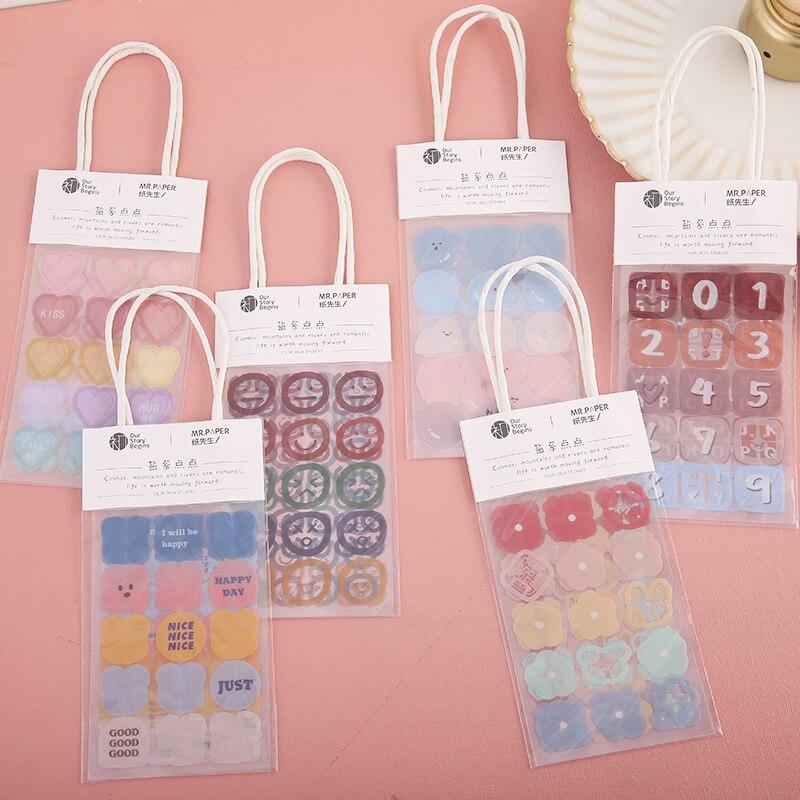 Kawaii Cartoon INS stickers package DIY diary Journal decoration collage label sticker album scrapbooking custom planner sticker