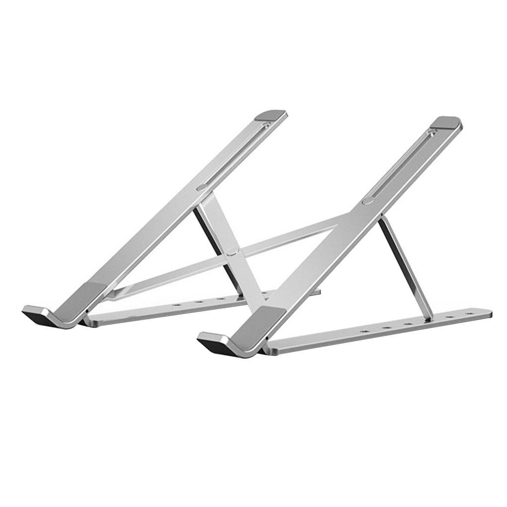 Soporte plegable y ajustable para ordenador portátil refrigeración de Metal soporte de escritorio para portátil de 4 a 10 enchufamos