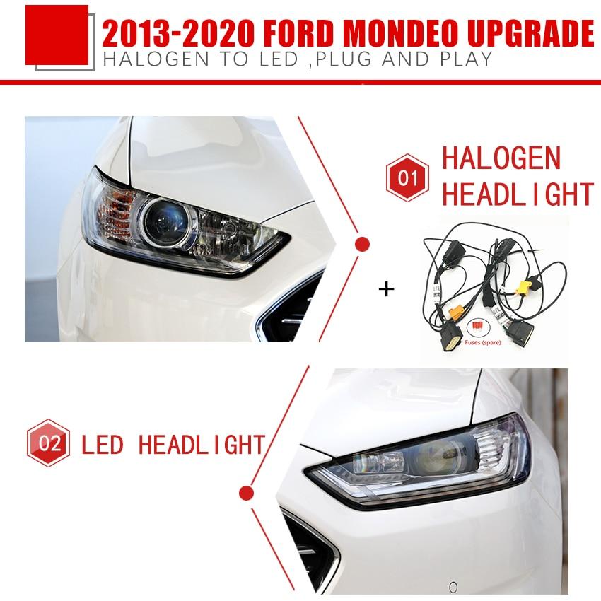 Модификация автомобильных фар CZMOD, модернизация, специальный автомобильный жгут проводов для Ford 13-16 17-20 mondeo, модификация автомобильных аксе...