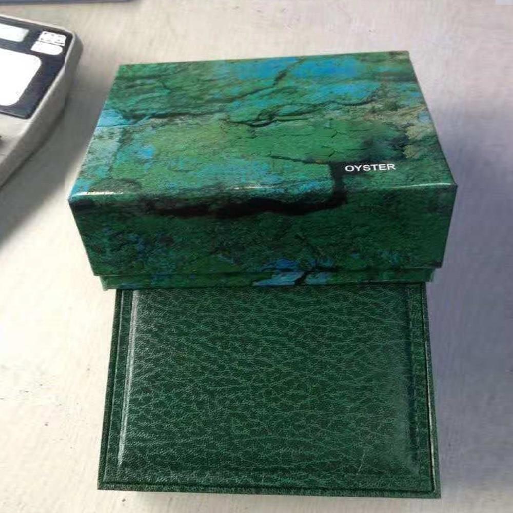 Caixa de Relógio Perpétuo de Alta Caixas de Madeira para Sea-dweller Verde Qualidade Luxo 126710 126711 116500 116610 Relógios 116660 126600