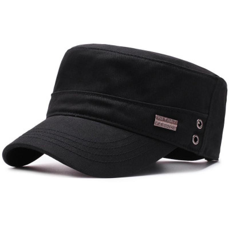 Nueva gorra militar de primavera y otoño, gorra plana de algodón clásico a la moda, gorra informal de protección solar para exteriores, sombrero retro estilo Cadete del ejército