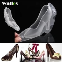 walfos fondant high heel shoe chocolate mold baking diy 3d stereo ladys shoes candy mould sugar paste mold for cake decoration