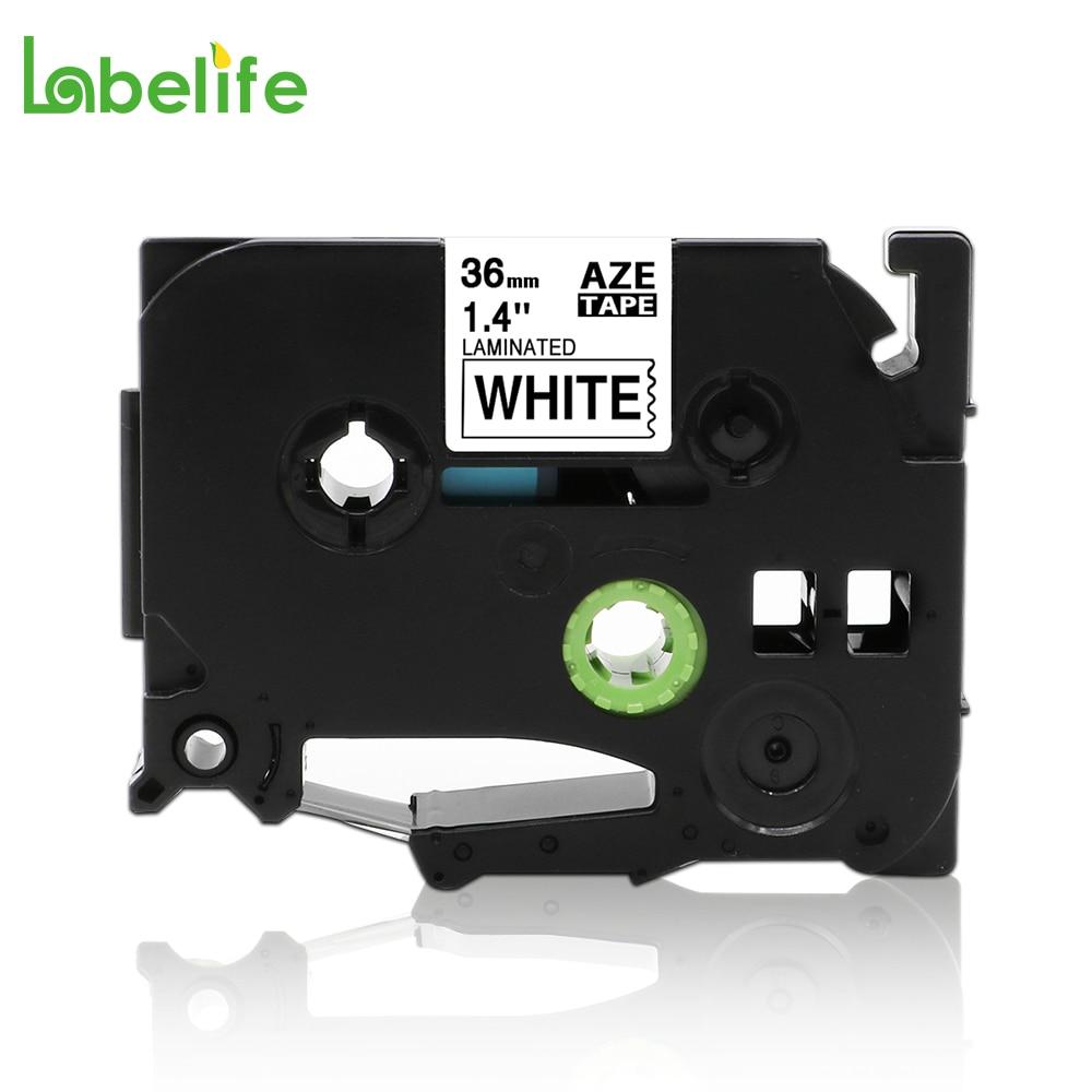"Labelife, TZe-261, negro sobre blanco, 36mm, Compatible con Brother p-touch, cinta para etiquetas laminada, 1-1/2 "", TZ-261 TZe261, TZ261"