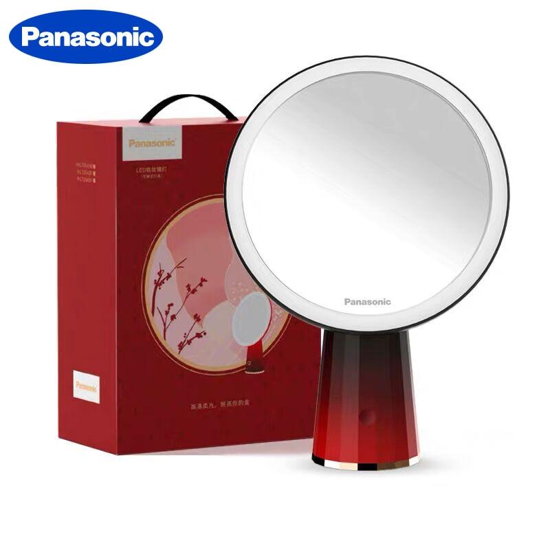 Miroir de maquillage Miroir LED Panasonic avec lumière Led miroirs de vanité Miroir cosmétique rotatif 5X miroirs grossissants