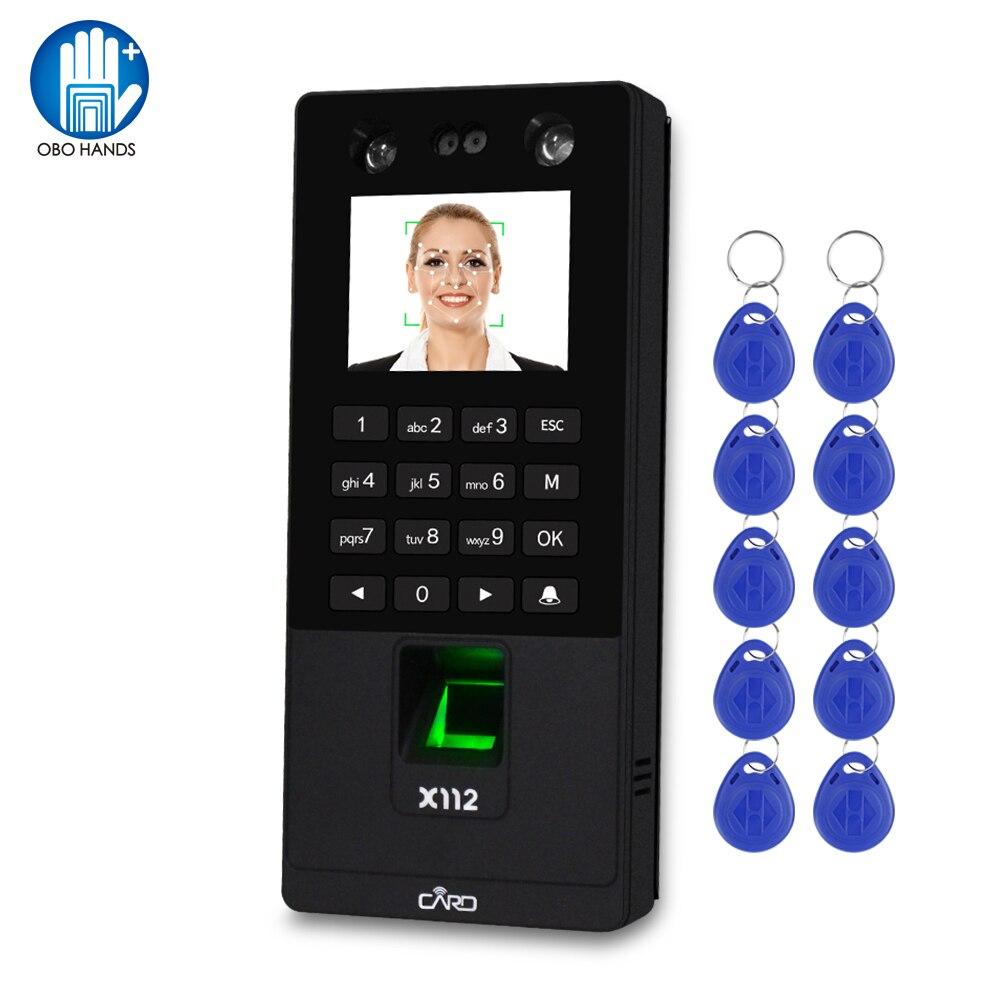 TCP/IP/USB Biometrische Gesichts Tür Access Control System Software RFID Tastatur Reader Fingerprint Gesicht Zeit Teilnahme Maschine