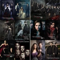 5d diy diamond painting vampire diaries picture cross stitch gift squareround full drill embroidery mosaic art home decoration