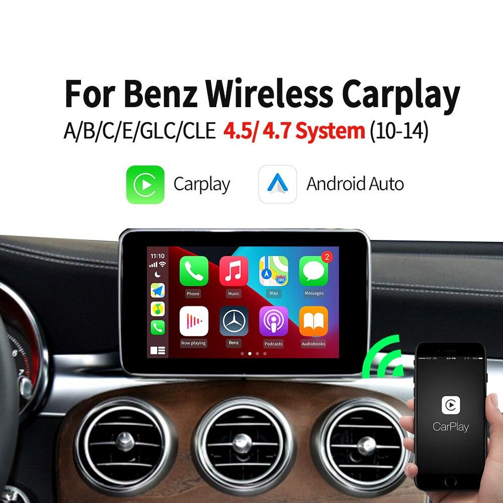 Review Carlinkit Wireless Apple Carplay Android Auto for Mercedes Benz A B C E Class ML GLA GLC GLK GLE GL CLA CLS AMG 11-14 NTG 4.54.7