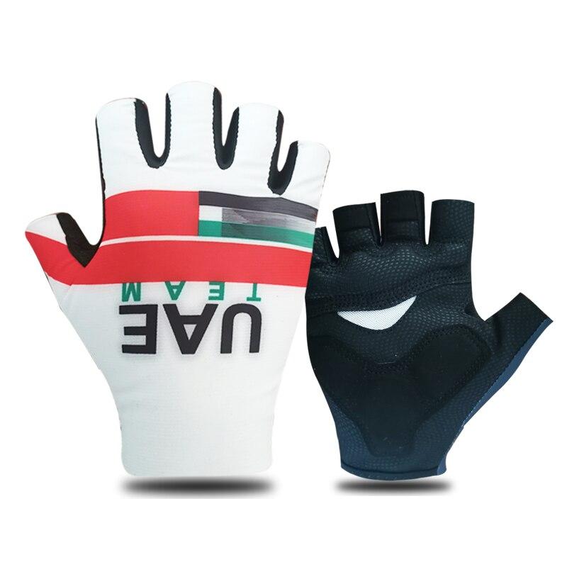 UAE Team-Guantes de Ciclismo de medio dedo para verano, transpirables, para deportes...