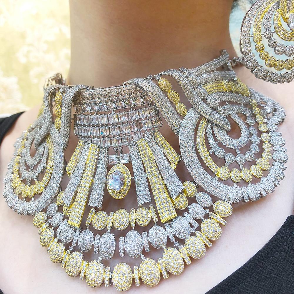 Kellyبولا 4 قطعة نوبل فاخر رائع قلادة الإسورة أقراط خاتم مجموعة لل حفل زفاف راقصة اكسسوارات مجوهرات