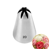 1pcs stainless steel pastry nozzle set icing piping nozzle baking pastry tips cupcake cake decorating tools 2d