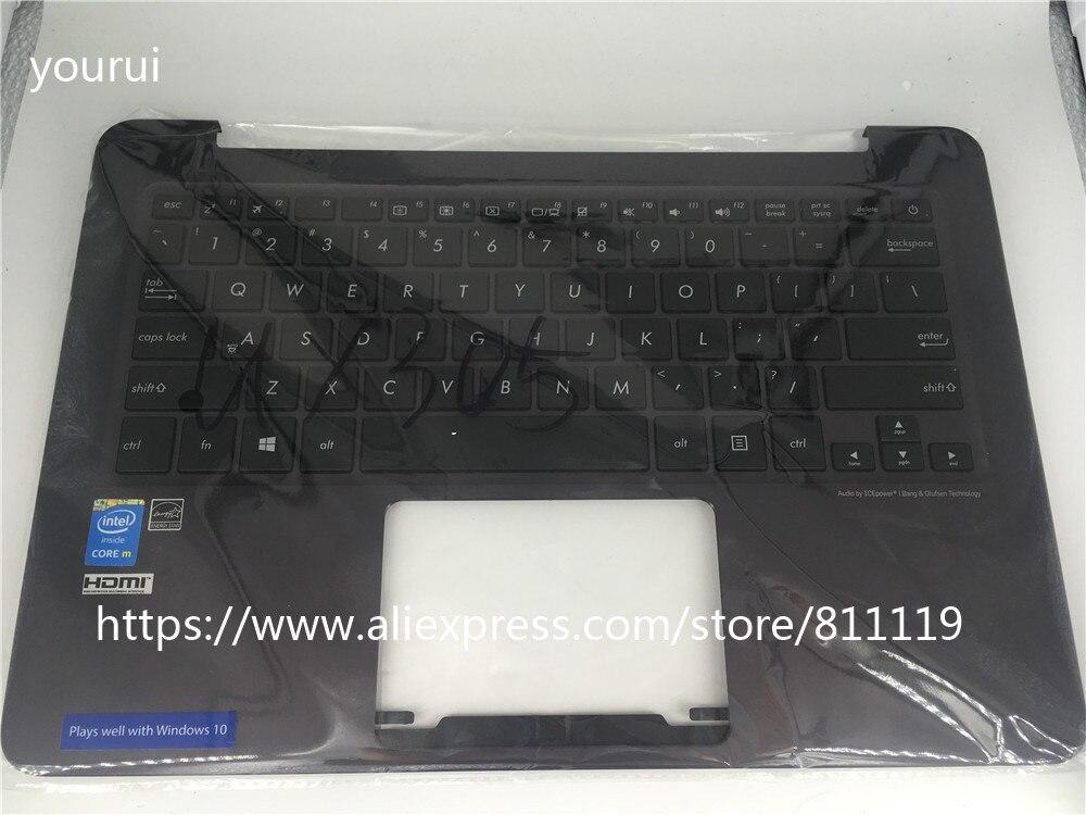 Yourui لوحة مفاتيح الكمبيوتر المحمول لشركة آسوس UX305 ux305fلوحة المفاتيح مع palmrest الغطاء العلوي للقضية