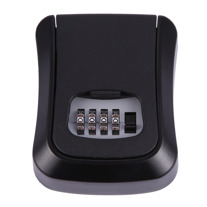 Password Key Lock Box Wall Mounted Zinc Alloy Key Box Weatherproof 4 Digit Combination Key Storage Lock Box недорого