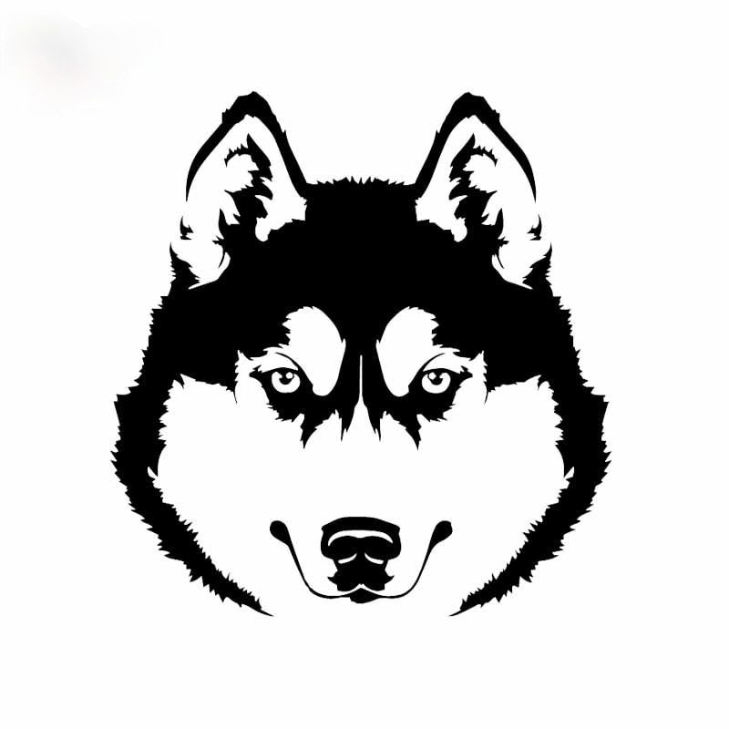 14x15CM Husky perro Animal pegatinas de coche vinilo Mural artístico decoración etiqueta...