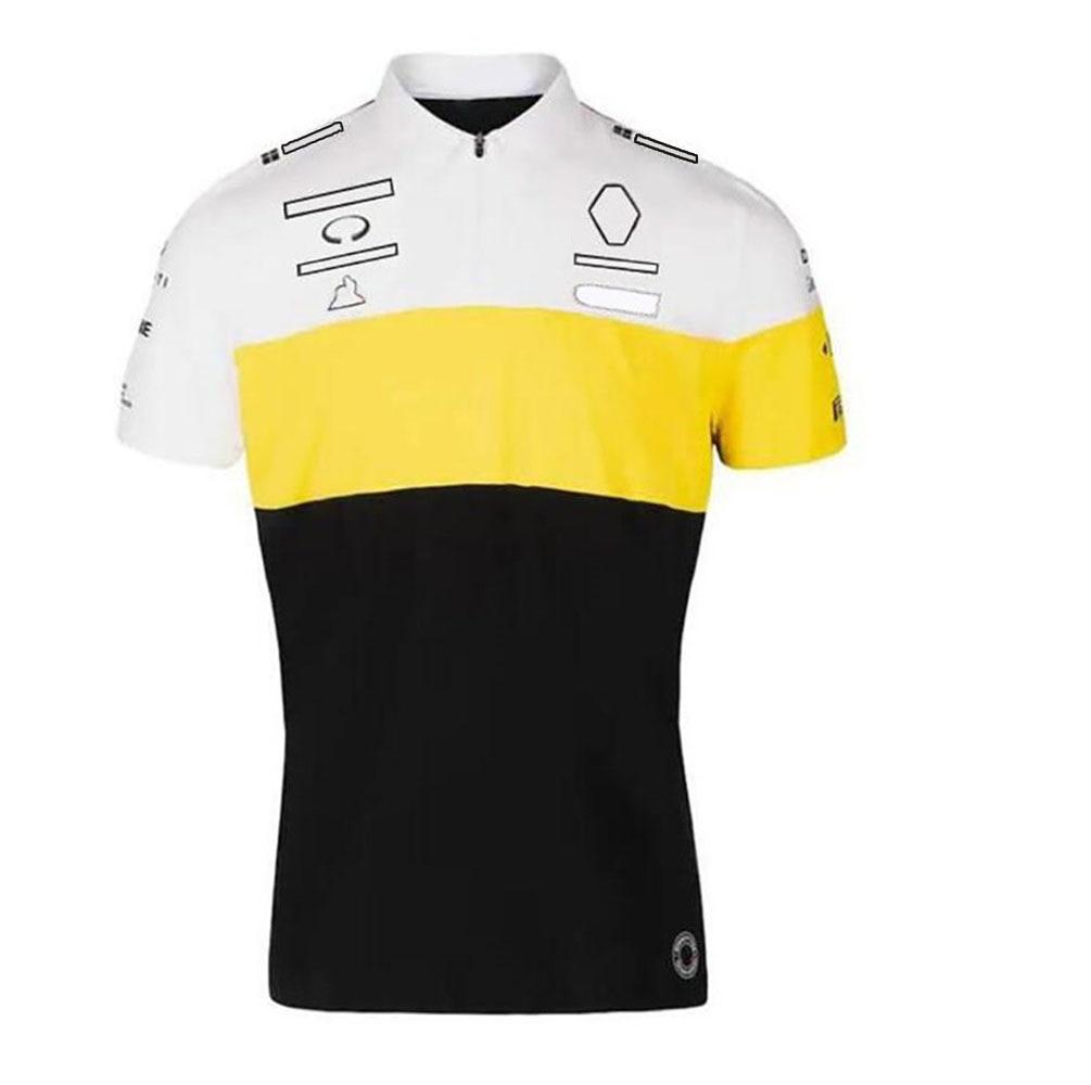 F1 формула один гоночный костюм летняя мужская футболка с коротким рукавом с лацканами рубашка поло быстросохнущая дышащая индивидуальная ...