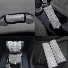 2020 nouveau diamant Bling Auto ceinture de sécurité et frein à main couverture et changement de vitesse coussin voiture décor remplacement accessoires de coiffure