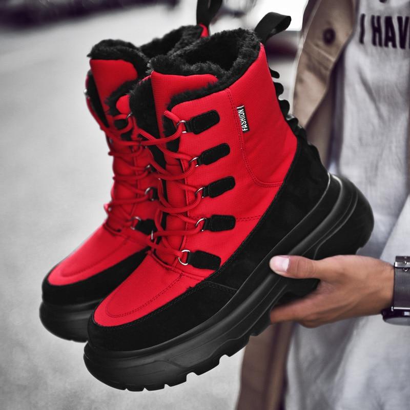 Botas de nieve para Hombre Botas de invierno calientes al tobillo Zapatos Hombre botines de alta calidad Zapatillas de Hombre Zapatos Zapatillas Hombre Botas de talla grande 46