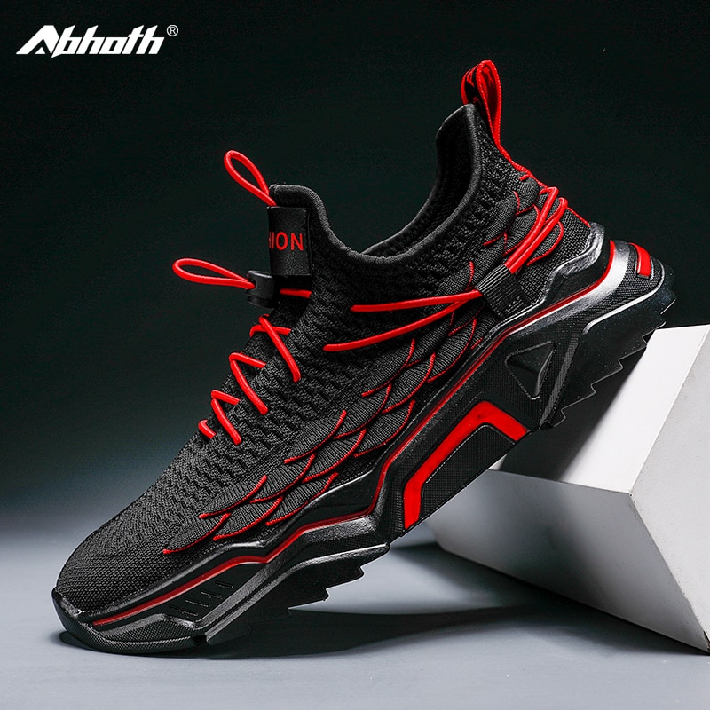 Abhoth Breathable Mesh Men Running Shoes Lace-Up Lightweight Walking Outdoor Shoes for Men Flexible Gym Shoes Fashion Sneakers 2020 summer fashion men sneakers mesh casual shoes lace up men shoes lightweight vulcanized shoes walking sneakers running shoes