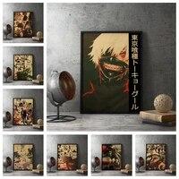 Affiche de Style ancien de Tokyo Ghoul  peinture sur toile imprimee de Style retro  image dart pour decoration de chambre a coucher