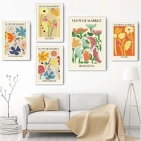 nordic poster abstract flower market pictures tokyo algeria tunis amsterdam wall art canvas painting for interior home decor