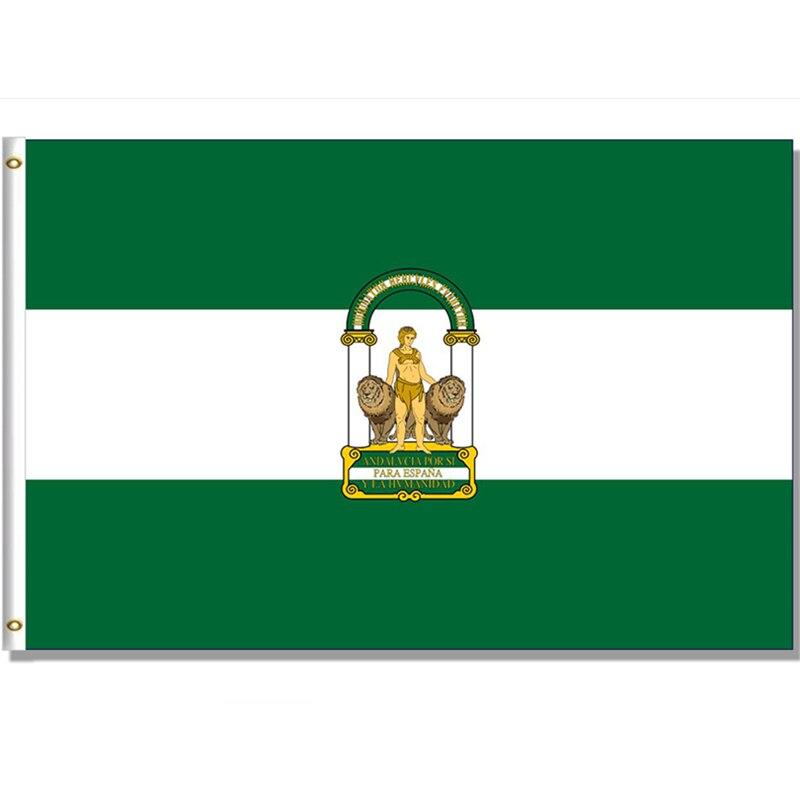Андалузский флаг Испании State 60x9 0 см/90x15 см/120x180 см баннер 100D полиэстер латунные люверсы под заказ флаг