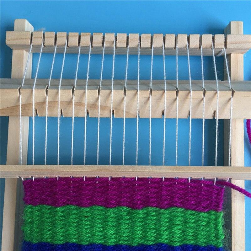 Telar de madera tradicional DIY, nuevo hilo para manualidades, máquina de tejer a mano, juguete educativo para niños, regalos