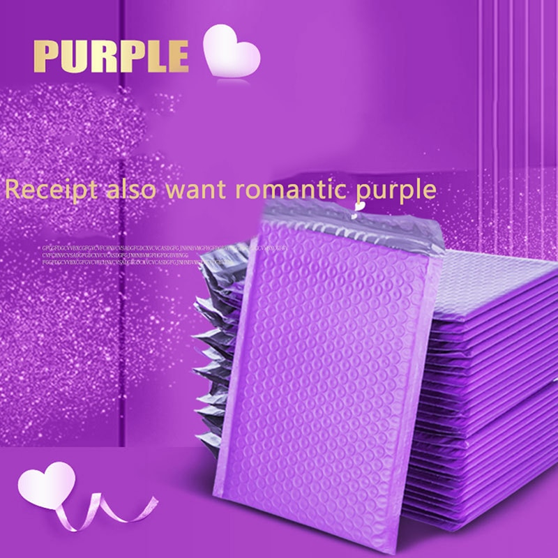10pcs Bubble Mailers purple Poly Bubble Mailer Self Seal Padded Envelopes Gift Bags For Book Magazine Lined Mailer Self Seal