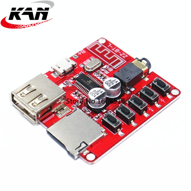Módulo de música estéreo sem fio 4.1 5v xy bt mini placa de decodificador mp3 sem perdas bluetooth placa de receptor de áudio bluetooth 3.7 Indutores    -