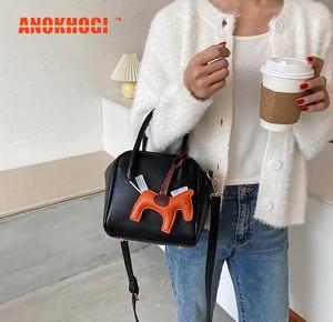 ANOKHOGI Colorful Female Korean Style Shoulder Bag Vintage Quality Autumn Handbag ZX78