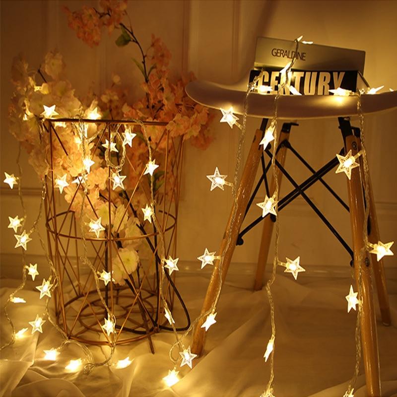AliExpress - Star LED Lamp String 5M 30Led Light Fairy Garland Lantern Girl Rooms Decoration Holiday Birthday Wedding Curtain Decor Lights