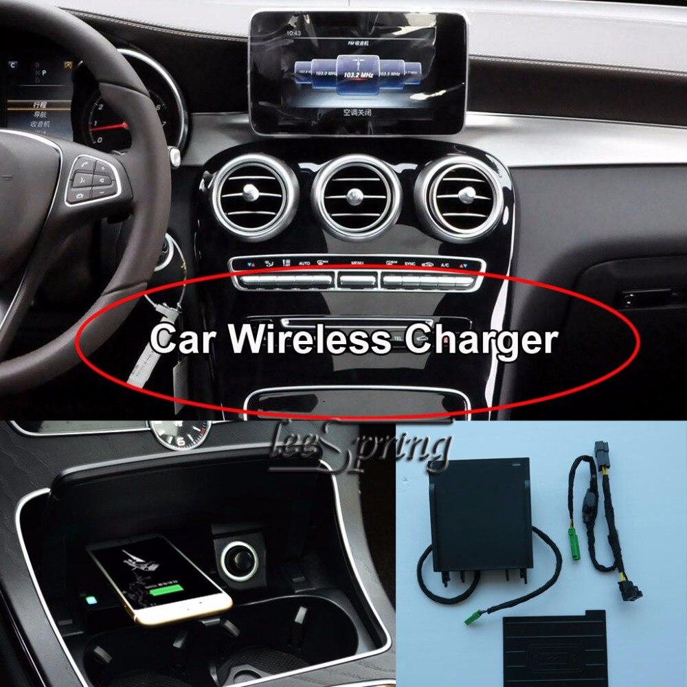 Cargador inalámbrico de coche para mercedes-benz C GLC estándar de carga inalámbrica WPC Qi 1,2