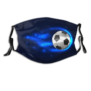 1 шт. PM2.5 маски для взрослых с маской прокладка для мужчин и женщин, прохладный и футбольным принтом Моющиеся Многоразовые наружный фильтр тушь для ресниц de бока