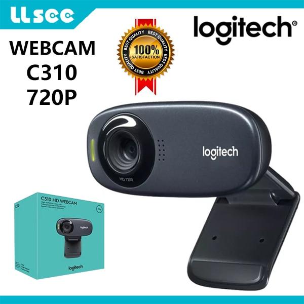 كاميرا ويب عالية الدقة من لوجيتك C310 للألعاب ، بث ويب ، ميكروفون مدمج ، HD 720P ، مع صور 5MP ، تركيز تلقائي