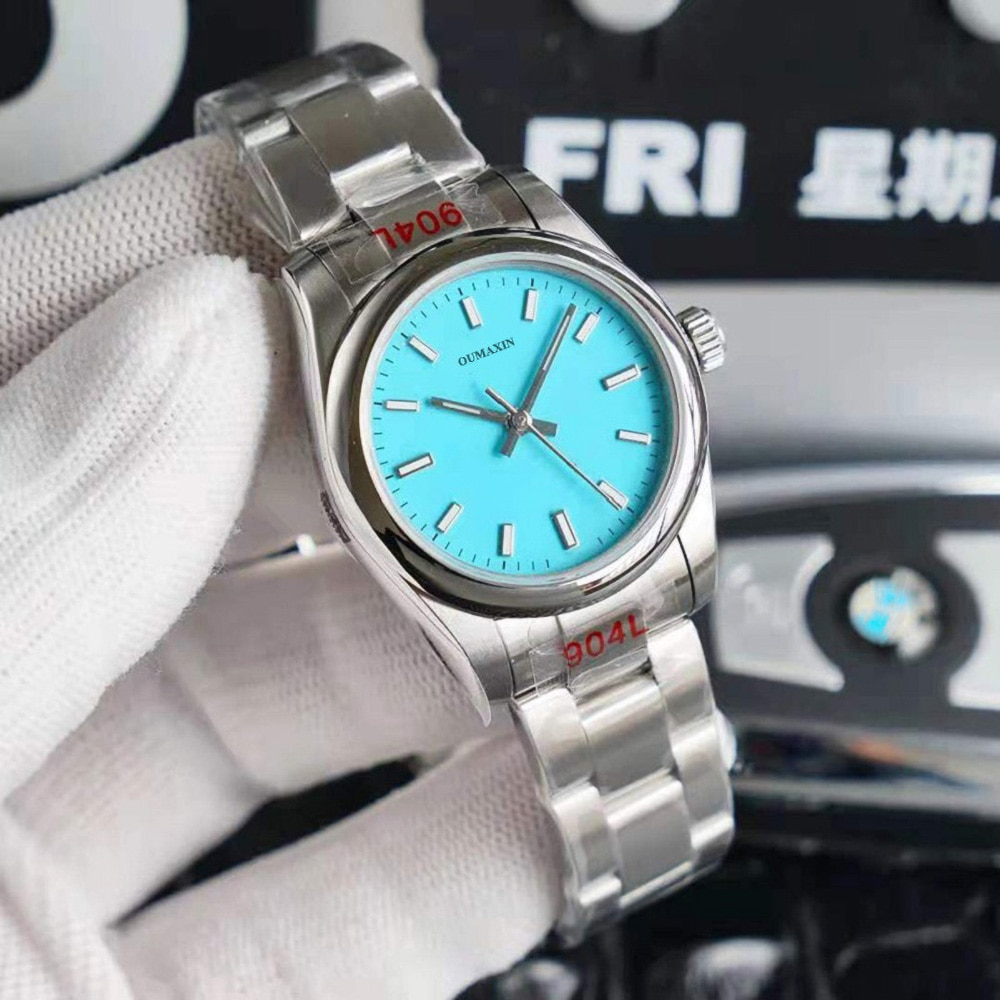 36mm 31mm mm Ladies Watch Automatic Mechanical Sapphire 316L Stainless Steel Blue Dial Ladies Clock 126333